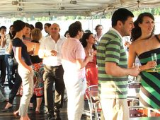 Cocktail party, Danube river cruise Budapest