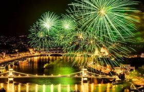 Danube river cruise Budapest with fireworks