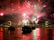 August 20 fireworks cruise on river Danube